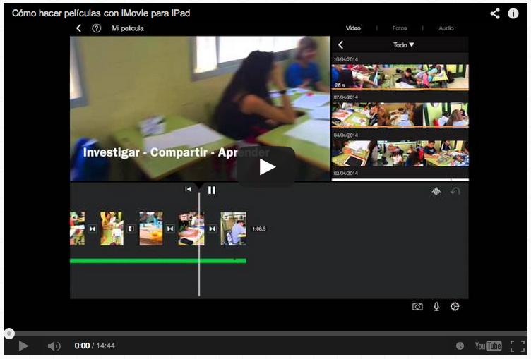 Cómo hacer películas con iMovie para iPad