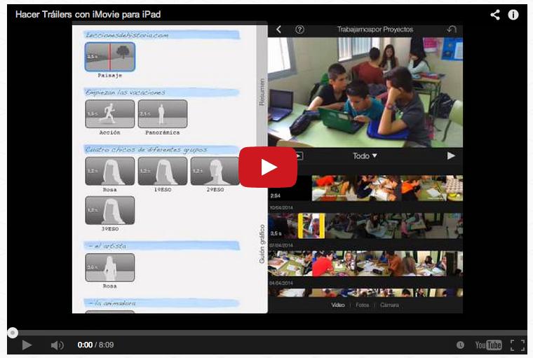 Cómo hacer Trailers con iMovie para iPad