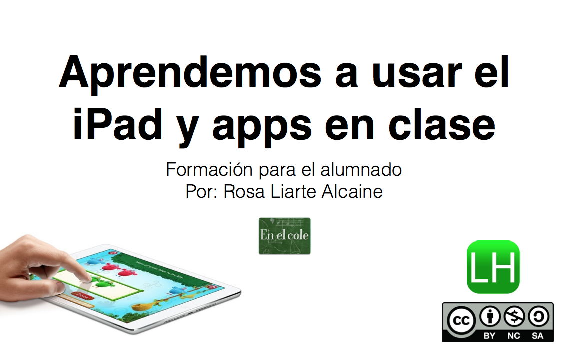 Aprendemos a usar el iPad en clase