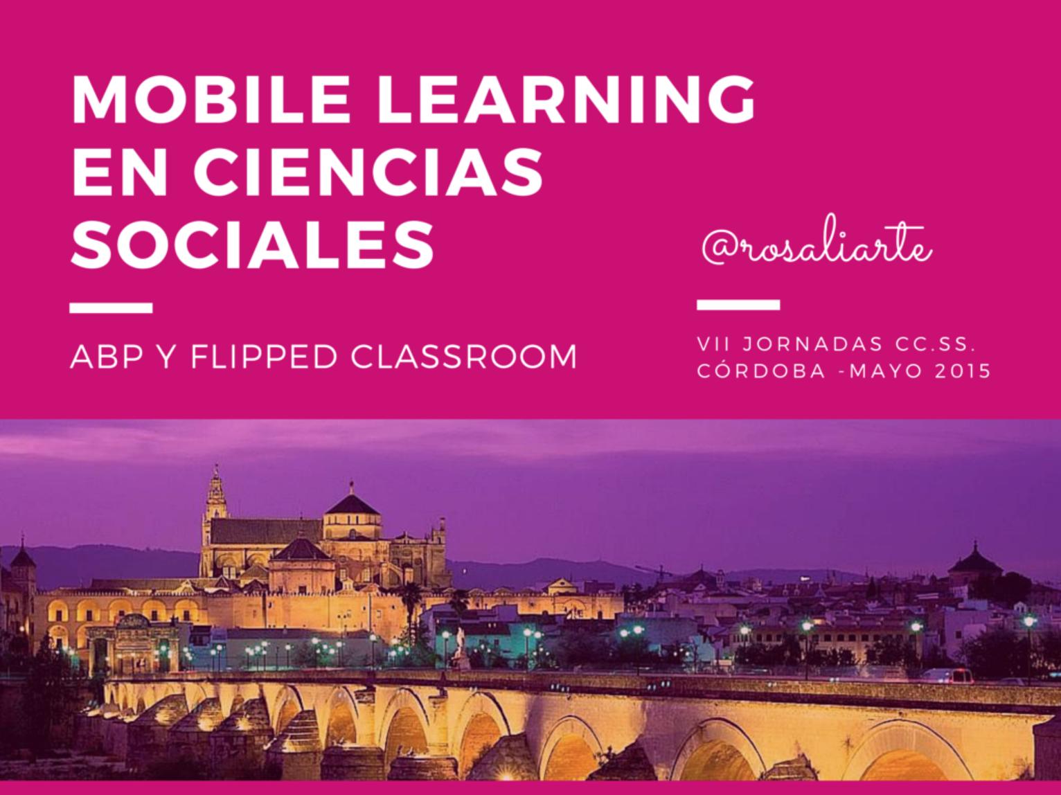 Mobile Learning en Ciencias Sociales, Ponencia en Córdoba