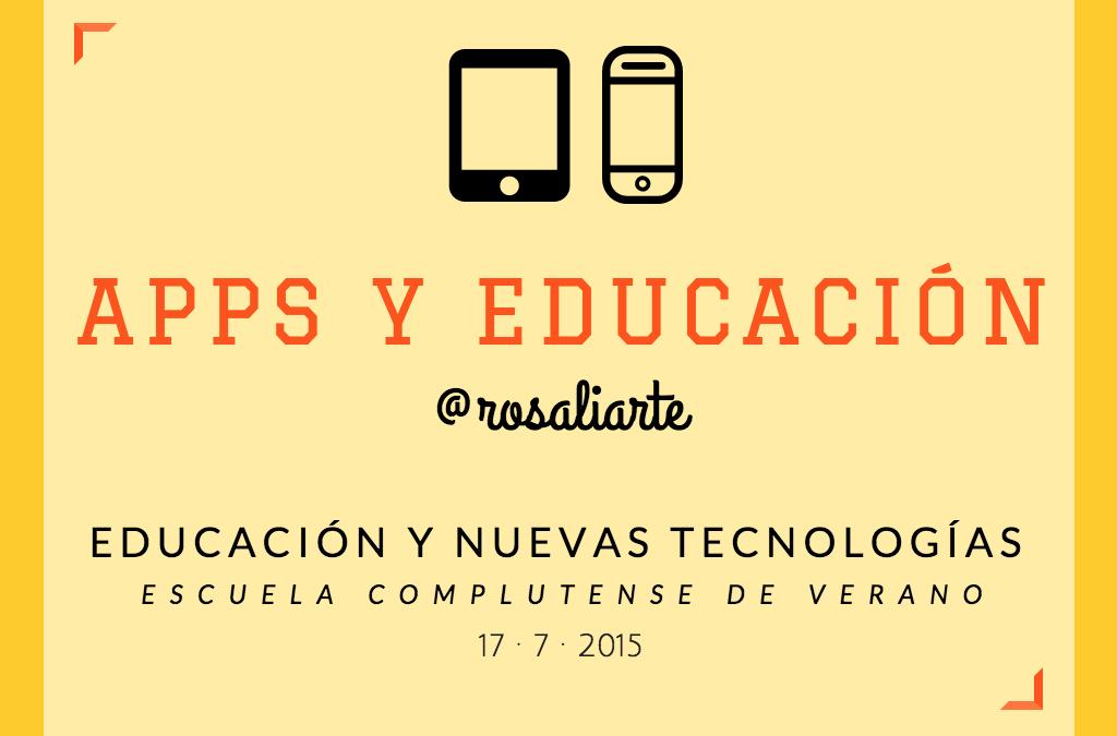«Educación y Apps» en la Escuela de Verano de la Universidad Complutense