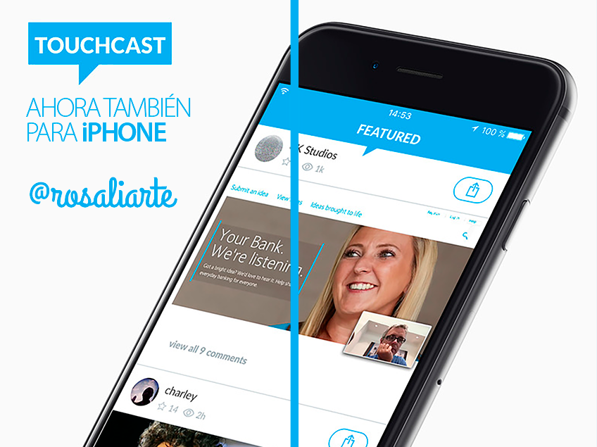 Touchcast lanza su app para iPhone