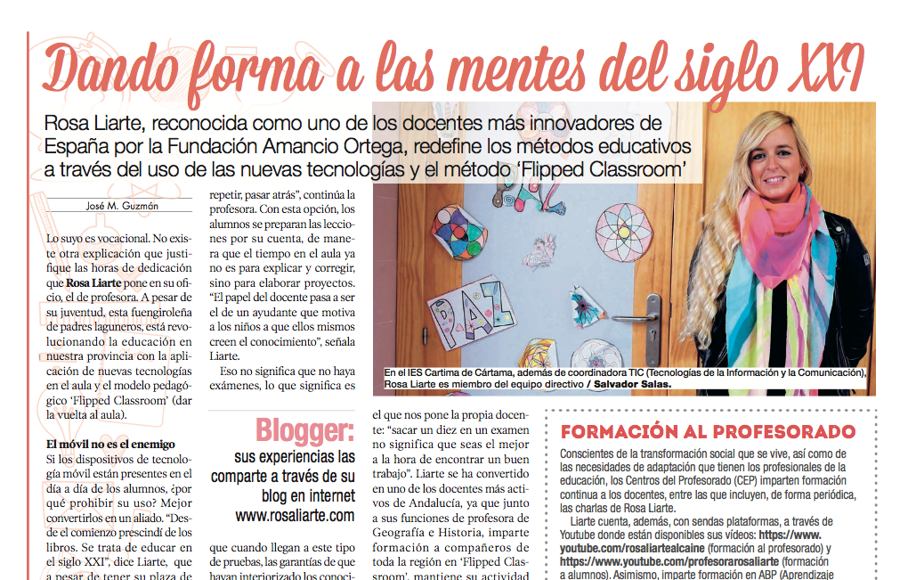 Artículo del Mijas Semanal sobre mi labor docente