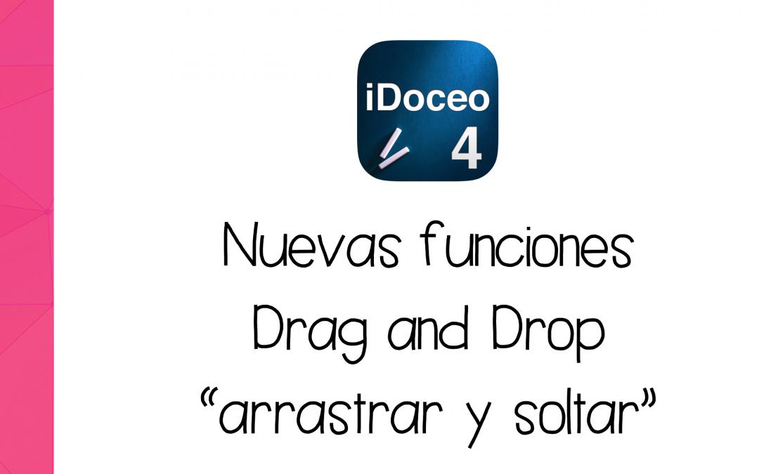 """Cómo usar las nuevas funciones """"Drag & Drop"""" de iDoceo"""