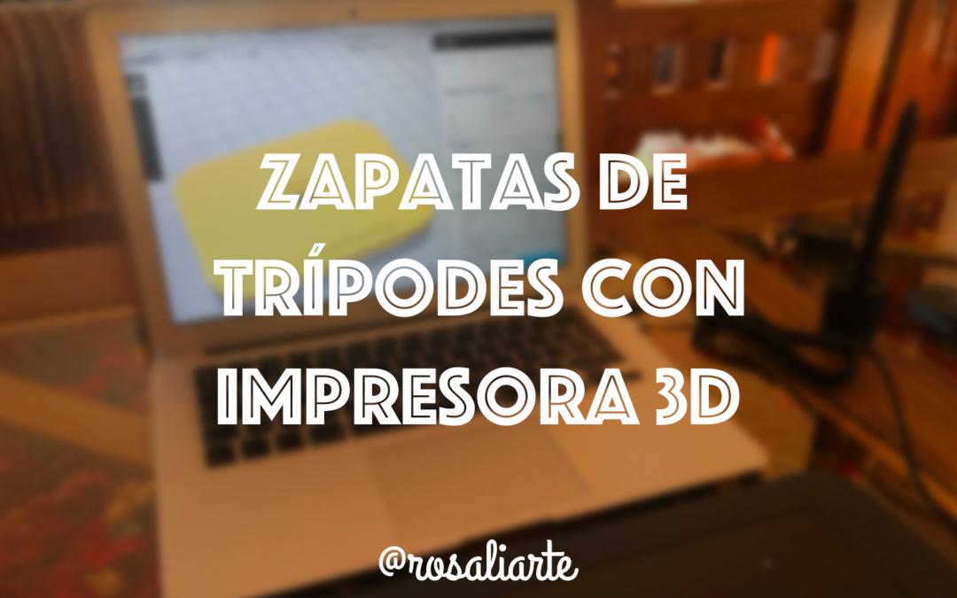 Zapata de trípodes con impresora 3D