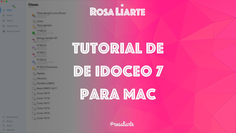 Tutorial de iDoceo 7 para Mac