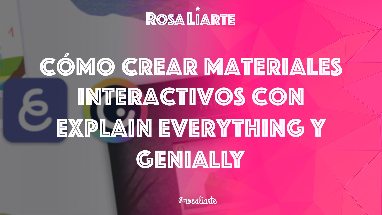 Webinar de Explain Everything y Genially