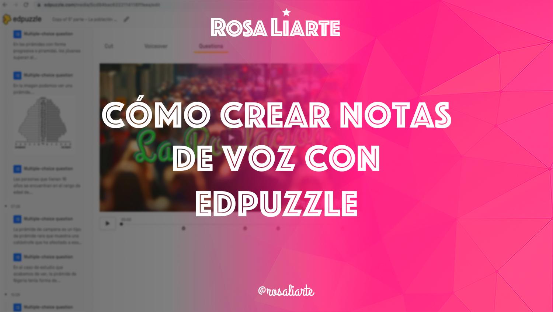 Cómo crear notas de voz en Edpuzzle