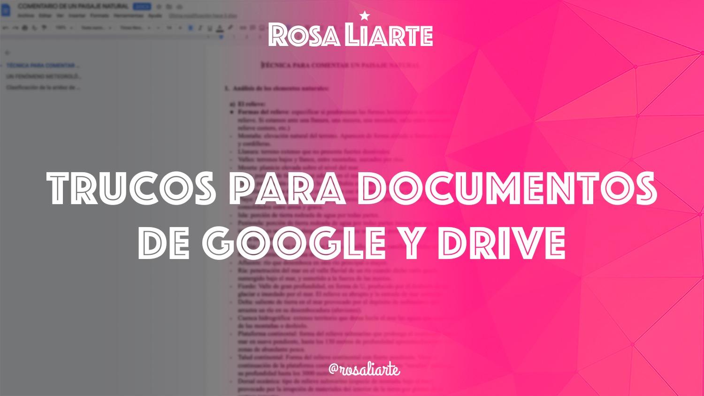 Trucos de Documentos de Google y Drive